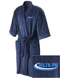 Delta Phi Embroidered Terry Velour Robe