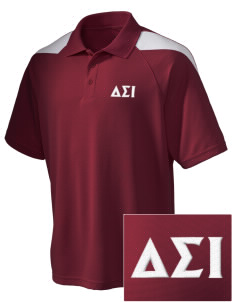 Delta Sigma Iota Embroidered Holloway Men's Frequency Performance Pique Polo