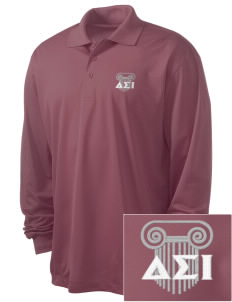 Delta Sigma Iota Embroidered Men's Long Sleeve Micropique Sport-Wick Sport Shirt