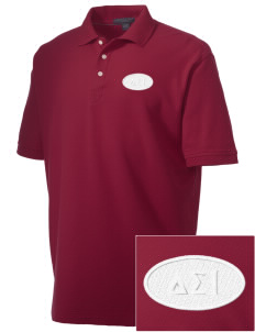 Delta Sigma Iota Embroidered Men's Performance Plus Pique Polo