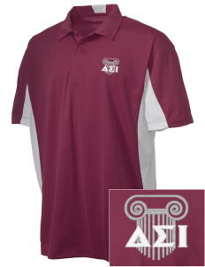 Delta Sigma Iota Embroidered Men's Side Blocked Micro Pique Polo