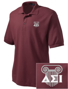 Delta Sigma Iota Embroidered Tall Men's Silk Touch Polo