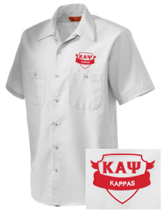 Kappa Alpha Psi Embroidered Men's Cornerstone Industrial Short Sleeve Work Shirt