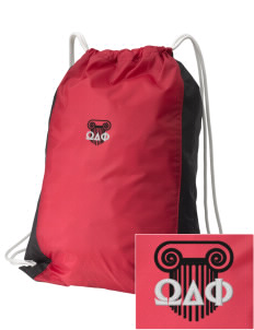 Omega Delta Phi Embroidered Holloway Home and Away Cinch Bag