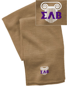 Sigma Lambda Beta  Embroidered Knitted Scarf