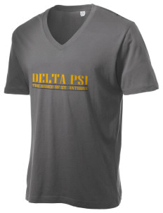 Delta Psi Alternative Men's 3.7 oz Basic V-Neck T-Shirt