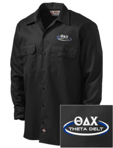Theta Delta Chi Embroidered Dickies Men's Long-Sleeve Workshirt