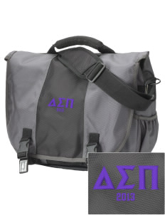 Delta Sigma Pi  Embroidered Montezuma Messenger Bag