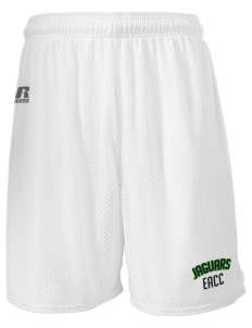 "East Arkansas Community College Jaguars  Russell Men's Mesh Shorts, 7"" Inseam"