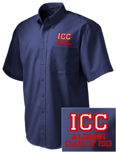 Itawamba Community College Indians Embroidered Men's Easy Care Shirt