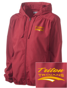Triton College Trojans Embroidered Women's Hooded Essential Jacket