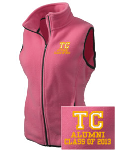 Triton College Trojans Embroidered Women's Fleece Vest