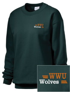 Walla Walla University Wolves Embroidered Unisex Crewneck Sweatshirt