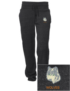 Walla Walla University Wolves Embroidered Alternative Women's Unisex 6.4 oz. Costanza Gym Pant