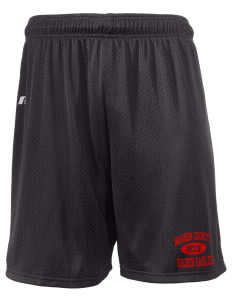 "Warren County Community College Golden Eagles  Russell Men's Mesh Shorts, 7"" Inseam"