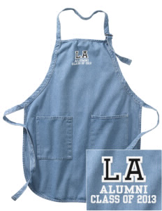 Little Axe Middle School Indians Embroidered Full-Length Apron with Pockets