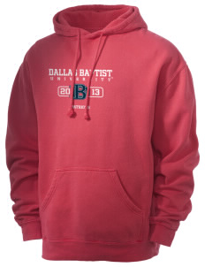Dallas Baptist University Patriots Men's 80/20 Pigment Dyed Hooded Sweatshirt