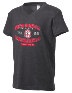 North Greenville University Crusaders Kid's V-Neck Jersey T-Shirt