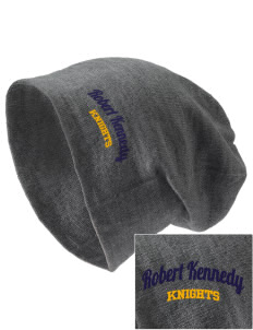 Robert Kennedy Elementary School Knights Embroidered Slouch Beanie