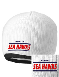 Nimitz Middle School Sea Hawks Embroidered Champion Striped Knit Beanie