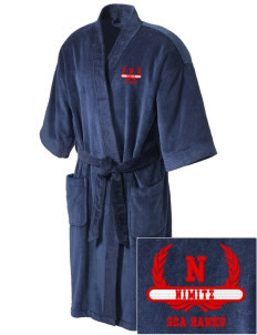 Nimitz Middle School Sea Hawks Embroidered Terry Velour Robe