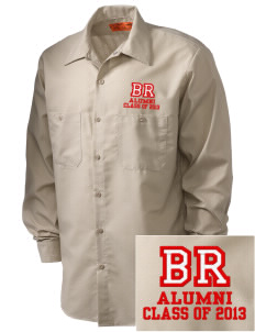 Browning Road Elementary School Panthers Embroidered Men's Industrial Work Shirt - Regular