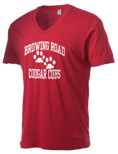 Browning Road Elementary School Panthers Alternative Men's 3.7 oz Basic V-Neck T-Shirt