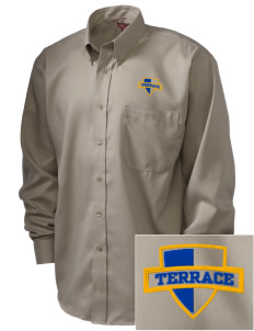 Terrace Elementary School Tigers  Embroidered Men's Nailhead Non-Iron Button-Down