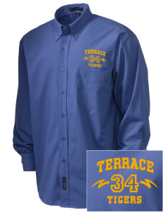 Terrace Elementary School Tigers  Embroidered Men's Easy Care, Soil Resistant Shirt