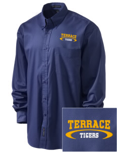 Terrace Elementary School Tigers Embroidered Men's Easy-Care Shirt