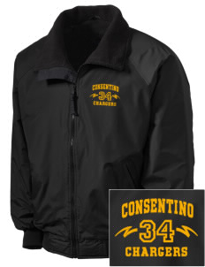 Consentino Middle School Chargers Embroidered Tall Men's Challenger Jacket