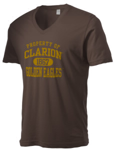 Clarion University of Pennsylvania Golden Eagles Alternative Men's 3.7 oz Basic V-Neck T-Shirt
