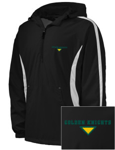 Clarkson University Golden Knights Embroidered Men's Colorblock Raglan Anorak