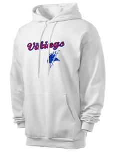 Elizabeth City State University Vikings Men's 7.8 oz Lightweight Hooded Sweatshirt