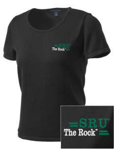 Slippery Rock University The Rock Embroidered Women's Fine-Gauge Scoop Neck Sweater