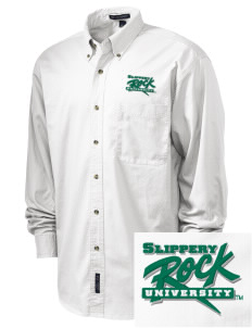 Slippery Rock University The Rock Embroidered Tall Men's Twill Shirt