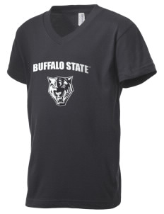 Buffalo State College Bengals Kid's V-Neck Jersey T-Shirt