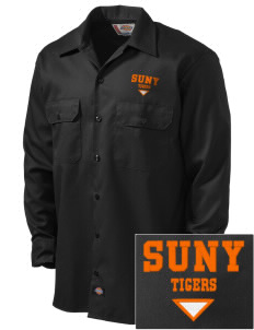 State University of New York at Cobleskill Fighting Tigers Embroidered Dickies Men's Long-Sleeve Workshirt