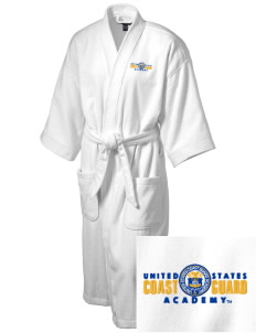 United States Coast Guard Academy Bears Embroidered Terry Velour Robe