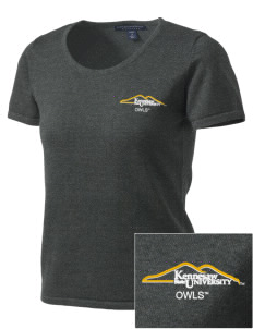 Kennesaw State University Owls Embroidered Women's Fine-Gauge Scoop Neck Sweater