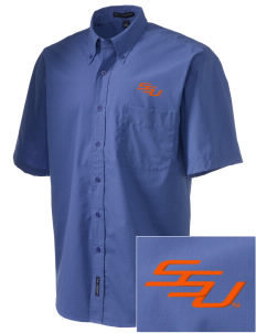 Savannah State University Tigers  Embroidered Men's Easy-Care Shirt