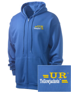 University of Rochester Yellowjackets Men's 7.8 oz Lightweight Full-Zip Hooded Sweatshirt