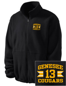 Genesee Community College Cougars Embroidered Men's Fleece Jacket