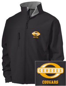 Genesee Community College Cougars Embroidered Men's Soft Shell Jacket