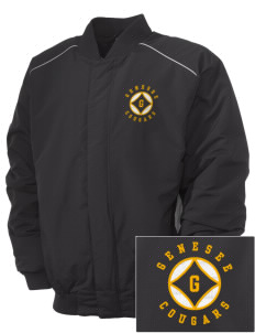 Genesee Community College Cougars Embroidered Russell Men's Baseball Jacket