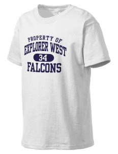 Explorer West Middle School Falcons Kid's Lightweight T-Shirt