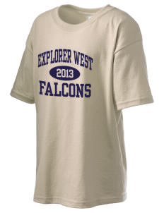 Explorer West Middle School Falcons Kid's 6.1 oz Ultra Cotton T-Shirt