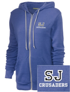 Saint Joseph Academy Crusaders Embroidered Alternative Unisex The Rocky Eco-Fleece Hooded Sweatshirt