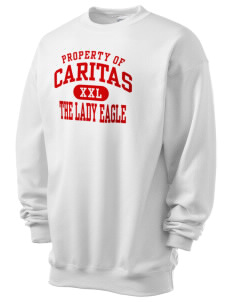 Caritas Academy The Lady Eagle Men's 7.8 oz Lightweight Crewneck Sweatshirt