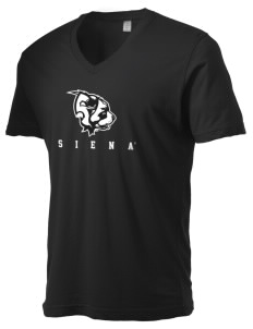 Siena College Saints Alternative Men's 3.7 oz Basic V-Neck T-Shirt